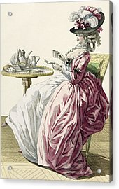 Elegant Woman In A Dress A Langlaise Acrylic Print
