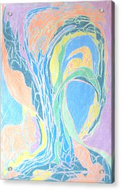 Acrylic Print featuring the painting Elegy To A Tree by Esther Newman-Cohen
