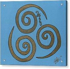Element Of Air In Cy Lantyca Acrylic Print by Cyryn Fyrcyd