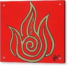 Element Of Fire In Cy Lantyca Acrylic Print