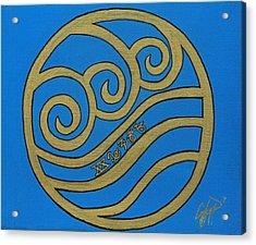 Element Of Water In Cy Lantyca Acrylic Print by Cyryn Fyrcyd