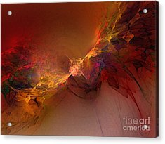 Elemental Force-abstract Art Acrylic Print by Karin Kuhlmann