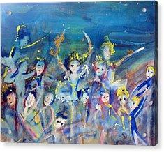 Elementals On The Beach Ballet Acrylic Print by Judith Desrosiers