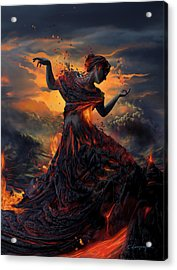 Elements - Fire Acrylic Print by Cassiopeia Art