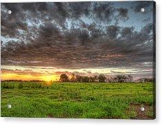 Elements Of A Waimea Sunset Acrylic Print