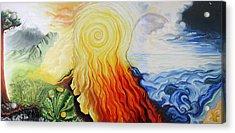 Elements Acrylic Print by Sandra Yegiazaryan