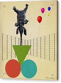 Elephant 3 Acrylic Print by Mark Ashkenazi