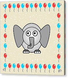 Elephant - Animals - Art For Kids Acrylic Print