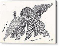 Elephant Bat Acrylic Print by Fred Jinkins