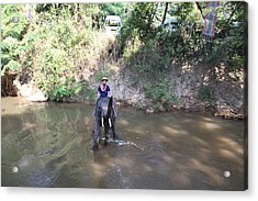 Elephant Baths - Maesa Elephant Camp - Chiang Mai Thailand - 01136 Acrylic Print by DC Photographer