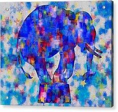 Elephant Blues Acrylic Print by Jack Zulli