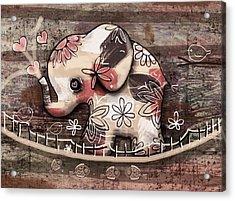 Elephant Bridge Acrylic Print by Karin Taylor