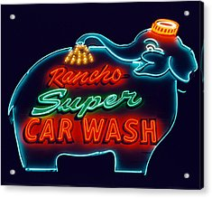 Elephant Car Wash Rancho Mirage California Acrylic Print