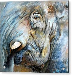 Acrylic Print featuring the painting Elephant Eye by Jieming Wang