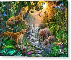 Elephant Falls Acrylic Print by Jan Patrik Krasny