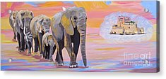 Elephant Fantasy Must Open Acrylic Print