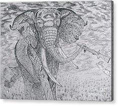 Elephant Gun Acrylic Print