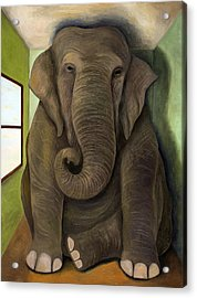 Elephant In The Room Wip Acrylic Print
