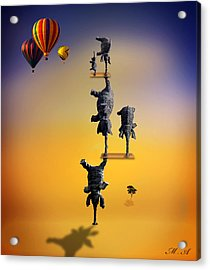 Elephant Life 2 Acrylic Print by Mark Ashkenazi