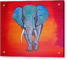 Acrylic Print featuring the painting Elephant Matriarch by Ella Kaye Dickey