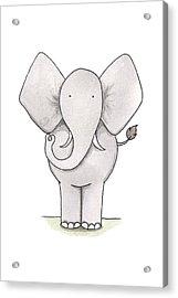 Elephant Nursery Art Acrylic Print by Christy Beckwith
