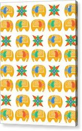 Elephant Print Acrylic Print