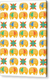 Elephant Print Acrylic Print by Susan Claire