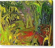 Acrylic Print featuring the painting Elephant Walk by Linda Whiteside