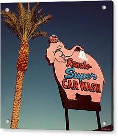 Elephant Car Wash Rancho Mirage California Acrylic Print by Jim Zahniser