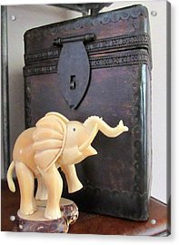 Elephant With Elephant Box Acrylic Print