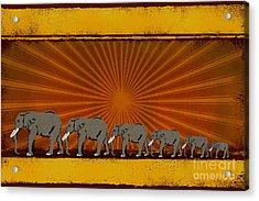 Elephants Acrylic Print by Bedros Awak