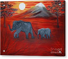 Elephants. Inspirations Collection. Acrylic Print