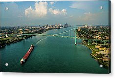 Elevated View Of Ambassador Bridge Acrylic Print