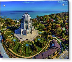 Elevated View Of Bahai Temple Acrylic Print