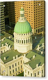 Elevated View Of Dome Of Saint Louis Acrylic Print
