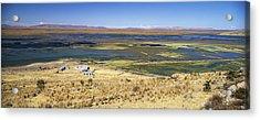 elevated view of Lake Titicaca, Peru, South America Acrylic Print by Gavin Hellier / robertharding