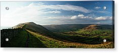 Elevated View Of Landscape From Mam Acrylic Print