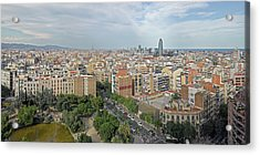 Elevated View Of The City, Barcelona Acrylic Print