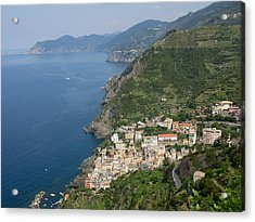Elevated View Of The Riomaggiore, La Acrylic Print by Panoramic Images