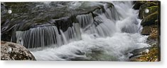 Elevated View Of Waterfall, Middle Acrylic Print