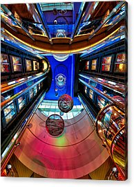 Elevators Aboard The Royal Caribbean Adventures Of The Seas Acrylic Print