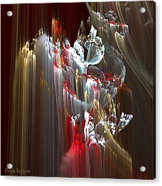 Eleven Kilometers Below The Surface. 2013 70/70 Cm.  Acrylic Print by Tautvydas Davainis