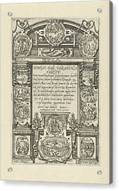 Eleven Medallions With Biblical Scenes, Anonymous Acrylic Print by Anonymous