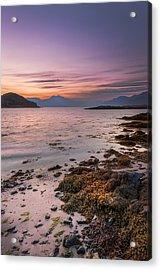 Landscape Wall Art Sunset Isle Of Skye Acrylic Print