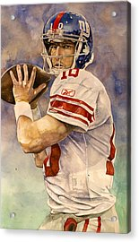 Eli Manning Acrylic Print by Michael  Pattison