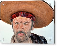 Eli Wallach As Tuco In The Good The Bad And The Ugly Acrylic Print by Jim Fitzpatrick