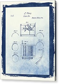 Eli Whitney's Cotton Gin Patent Acrylic Print