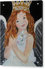 Eliana Little Angel Of Answered Prayers Acrylic Print by The Art With A Heart By Charlotte Phillips