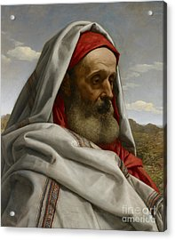 Eliezer Of Damascus Acrylic Print by William Dyce