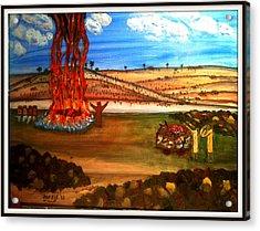 Elijah Calls Down Fire From Heaven Acrylic Print